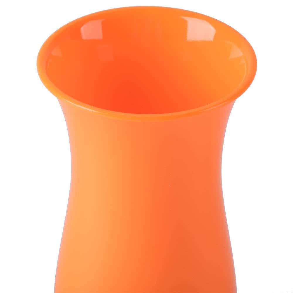 15 oz. Orange Hurricane Glasses, Break Resistant Plastic, Dishwasher Safe, GET HUR-1-OR-EC (Pack of 4)