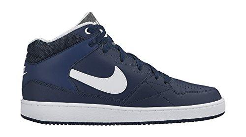 Nike Priority Mid Zapatillas de baloncesto, Hombre Azul / Blanco (Midnight Navy / White)