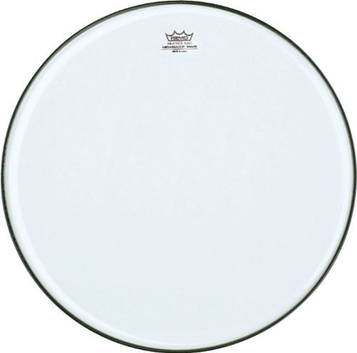 (Remo SA0314-TD Clear Ambassador Marching Snare Side Drum Head (14-Inch) - No Collar)