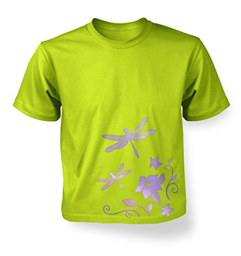 Floral Dragonflies Girls T-shirt - Kiwi S (5-6)