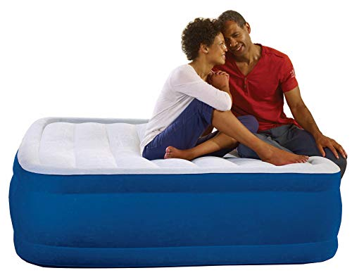 """Simmons Beautyrest Plush Aire Queen-Size 17"""" Airbed - Blue"""
