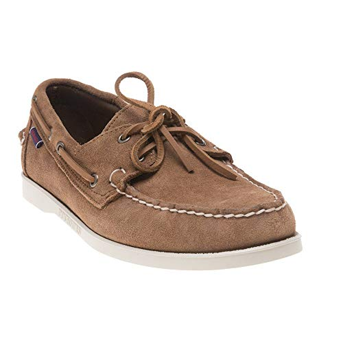 (Sebago Mens Portland Suede Moccasin Docksides Boat Shoes Brown Cognac 9.5 US)