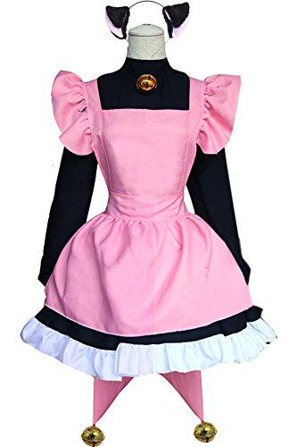 Wecos Halloween Costume Cardcaptor Sakura Dress Kinomoto Black Cat Cosplay X-Large
