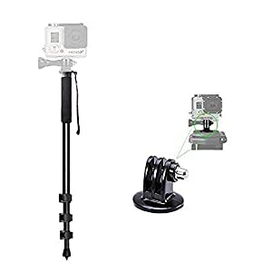 72'' Monopod Quick Release for GoPro HERO6, 5, 4, 3+, 3, 2, 1, Session,Fusion