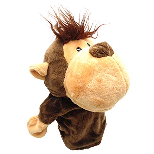 - Ameesi Hand Puppet Toy Stuffed Plush Soft Plush Cartoon Animals Monkey Dog Lion Xmas Kid Children Gift 3#
