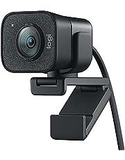 Logitech StreamCam, live stream webcam, Full 1080p HD 60fps verticale video, slimme autofocus en belichting, Dual webcam mount, met USB-C, voor YouTube, Gaming TWitch, PC/Mac - Zwart