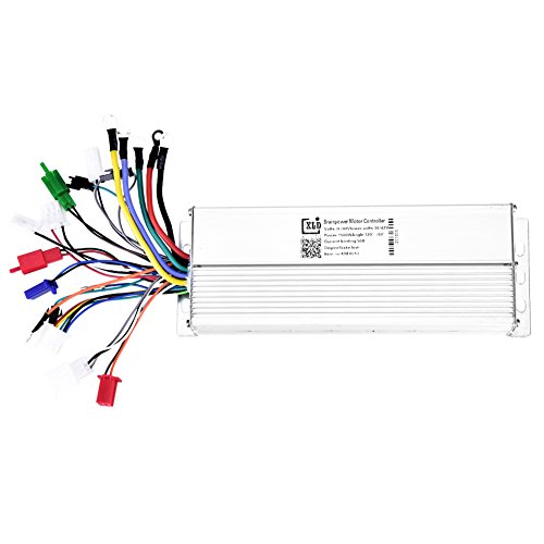 (Dilwe Electric Bicycle Speed Controller, 36V/48V1500W Brushless Controller Aluminum Alloy Brushless Motor Sine Wave Controller)