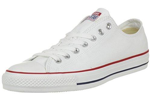 Converse Unisex Chuck Taylor All Star Low Top Optical White Sneakers - 10.5 B(M) US Women / 8.5 D(M) US Men