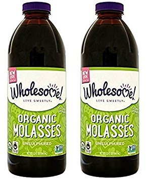 Wholesome Sweeteners - Organic Molasses Unsulphured - 32 Fl Oz (Pack of 2) by Wholesome Sweeteners (Image #1)