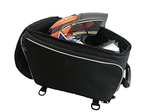 Deluxe Motorcycle Helmet Bag - Premium Quality Durable Helmet Storage Bag - Portable Removable Faceshield Protective Pouch - Sports, Motorbike Riders Travel Backpack with Carrying Handle & Straps (Helmet Bag Face)