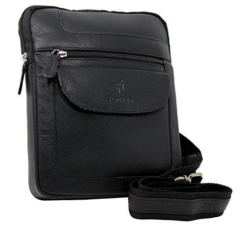 STARHIDE Designer Men's Women's Genuine Nappa Leather Cross Body Messenger Bag #505 (Nappa Leather Cross Body)