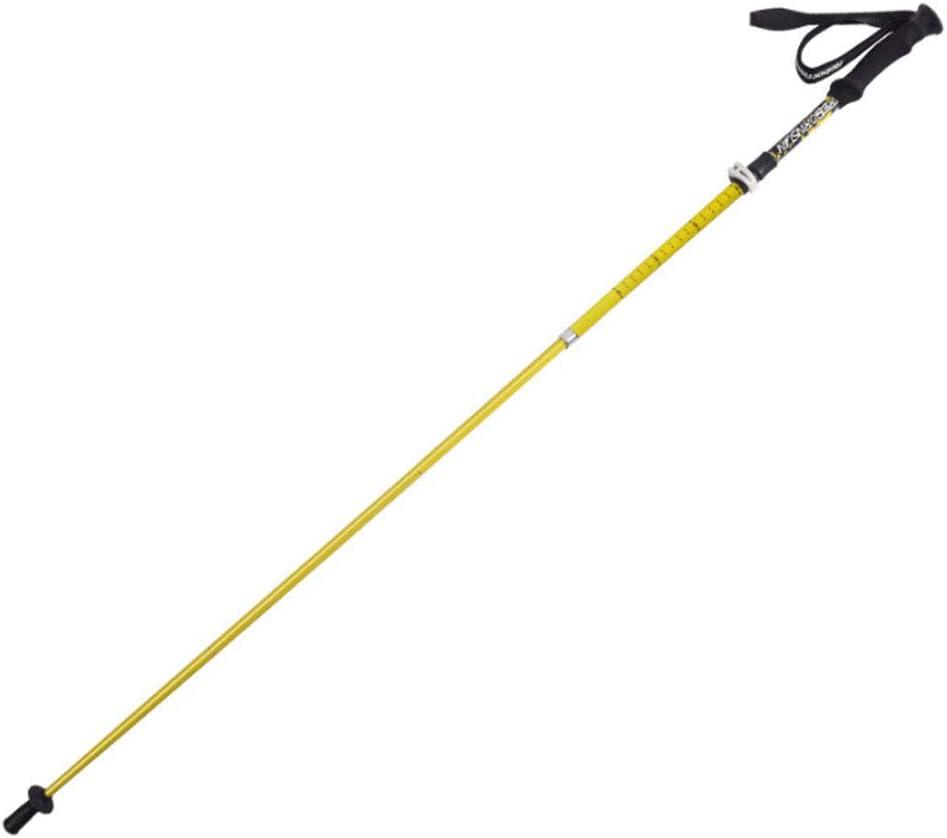 トレッキングポール折りたたみ伸縮カーボンロック超軽量5セグメントクロスカントリー杖ステッキ杖(長い115から135) B