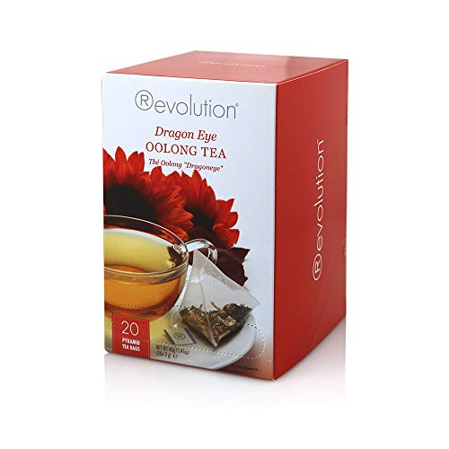 - Revolution Tea Dragon Eye Oolong Tea, 20-Count Tea Bags (Pack of 6)