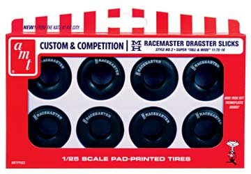 Photo AMT 1/25 Custom & Competition M&H Racemasters Jumbo Drag Slicks Tire Pack
