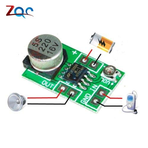 DC 3~12V 5V Adjustable Mini LM386 Audio Power Amplifier Board Micro Amp Module Max 750mW High Efficiency