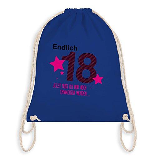 Shirtracer Geburtstag - Endlich 18 - Turnbeutel I Gym Bag Royalblau