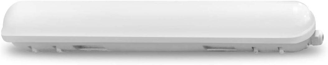 LLT 2Ft Led Light Fixture 18W Vapor Proof Tight Light 1350Lm Commercial Ceiling Tube Light 4000K Bright Light Under Cabinet Lights-Сarport Light-Warehouse Lighting Parking and Garage Lights-Waterproof