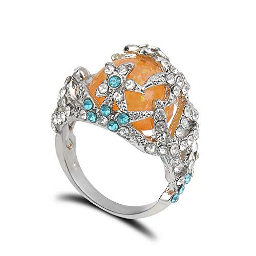 Monowi Hot Vintage Orange Opal 925 Silver Gemstone Wedding Party Ring Christmas Gift | Model RNG - 19775 | 8