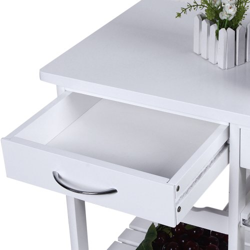 Carrito de cocina con encimera de madera mesa de servicio for Mesa cocina con ruedas