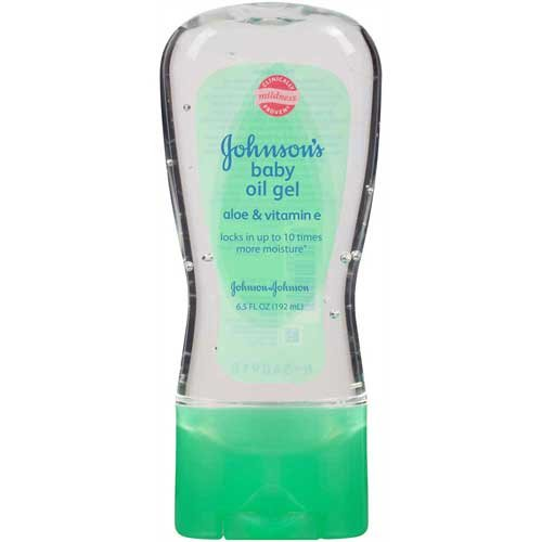 Johnson & Johnson 003296 Baby Oil Gel with Aloe Vera & Vitamin E, 6.5 oz. (Pack of 24) by Johnson
