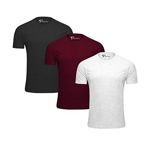 KIT 3 Camiseta Básica Masculina Anti Bolinhas