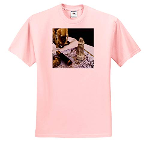 - Alexis Photography - Still-Life - Vintage Napoleon Figurine, Spyglass, Candlestick, map. Past glories - T-Shirts - Toddler Light-Pink-T-Shirt (2T) (ts_304790_47)