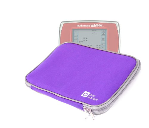 DURAGADGET Purple Neoprene Cover Case Securely Fastened W...