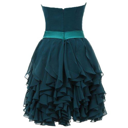 Dresstells® Sweetheart Short Prom Chiffon Bridesmaid Party Homecoming Dresses Size 24W White