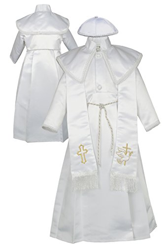 Unotux Baby Boy Christening Baptism Gown Gold Outfit Dove Cross Church Hat 0-30M (2:(12-18 months))