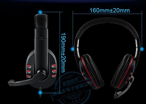 Canamite Stereo Gaming Headset Headphone Mic For PS4 Micp Phone PC Red black colour