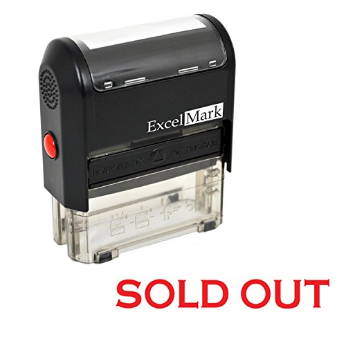 Sold Out Self Inking Rubber Stamp - Red Ink (ExcelMark - Rubber Out