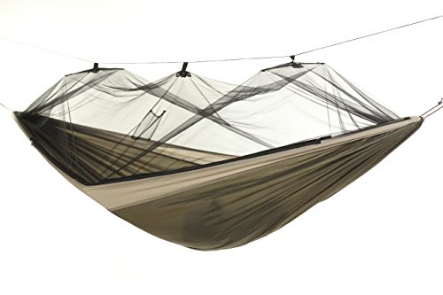 BYER OF MAINE Moskito Kakoon Mosquito Net Camping Hammock, Full-Sized, Single Person, Lightweight, Easy to Transport, Parachute Nylon, No-See-Um Mosquito Netting, 116 x56 , Holds up to 275lbs