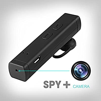 SpyGear-Ctronics Hidden Spy Camera HD Wearable MINI DVR Camcorder 1080P Functional Bluetooth Earphone Headset Nanny Camera with Built-in 8G SD Card - Ctronics