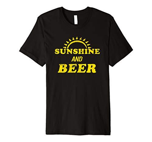 (Summer Drinking Shirt Alcohol Drinker Sunshine and Beer Premium T-Shirt)