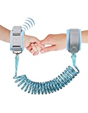 Looife Magnetic Lock Anti Lost Wrist Link, Toddler Safety Flexible Leashes (Blue, 2M)