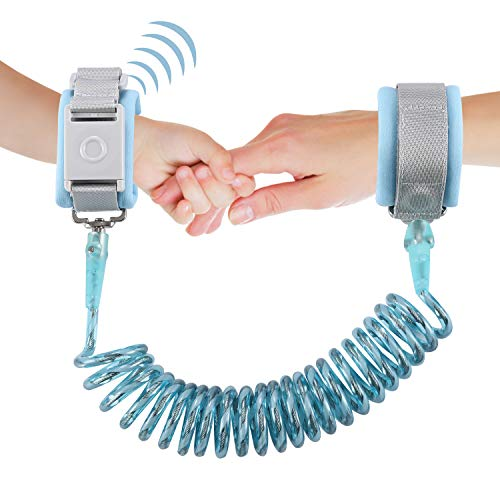 Looife Magnetic Lock Anti Lost Wrist Link, Toddler Safety Flexible Leashes (Blue, -