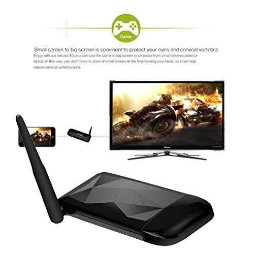 Black Wifi Display Wireless Display Receiver HDMI 1080P For Laptop TV LX Phone by Goodtrade8 Clearance (Image #4)