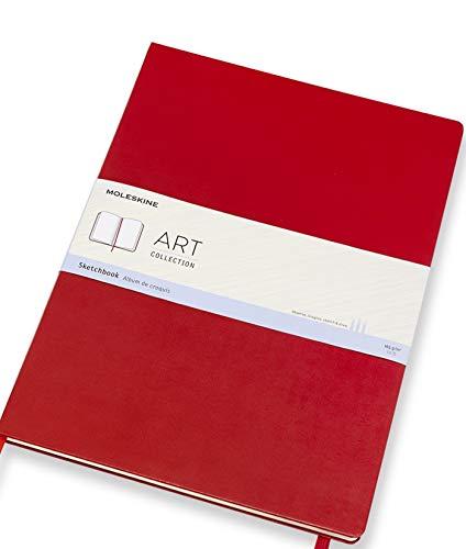 "Moleskine Art Sketchbook, Hard Cover, A3 (11.75"" x 16.5"") Plain/Blank, Scarlet Red, 96 Pages"