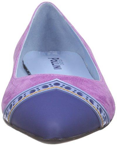oker 65a Lilla bluette Blå tunit10 lys Punkt Pvc oc Semsket Ballerinasko lill Blt Pollini azz Blå Kvinners Cam Scarpad fHAHaq