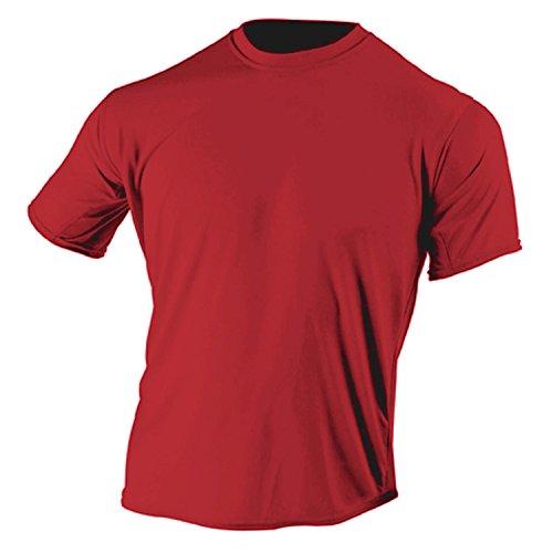 McDavid 905T Mens Half Sleeve Referee Cutcrew T Shirt Scarlet Small [Misc.] by McDavid