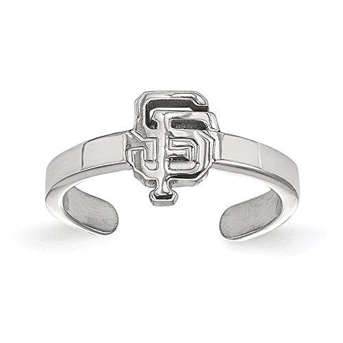 - Kira Riley MLB LogoArt San Francisco Giants Adjustable Open Toe Rings