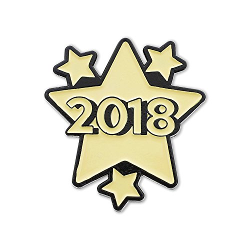 Forge 2018 New Year's Shooting Stars & Graduation Enamel Lapel Pin– 5 Pins