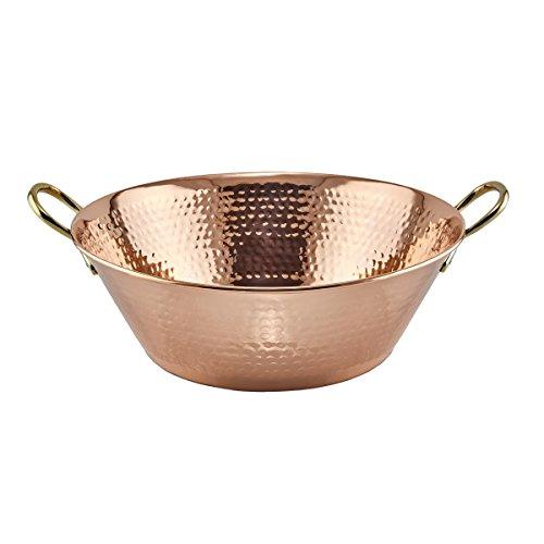- Solid Copper Hammered Preserve Pan, 10 Qt.