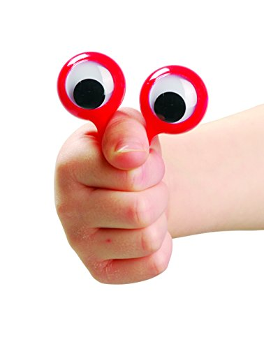 US Toy Dozen Assorted Googly Eye Monster Look Finger Puppets -