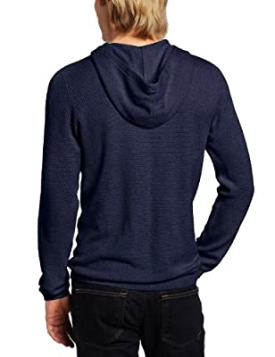 Calvin Klein Men's V-Neck Box Textured Hoodie Sweater