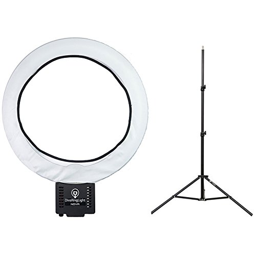 Diva Ring Light Nova Photo/Video Light with 6' Light Stand and Diffusion Cloth by Diva Ring Light