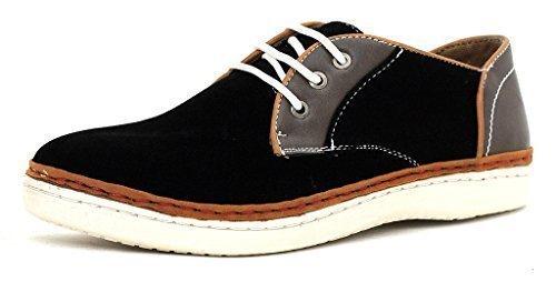 CABALLEROS Zapatos de Diario Imitación Ante Cordones Inteligente Zapatillas - Negro/Gris, 41: Amazon.es: Zapatos y complementos
