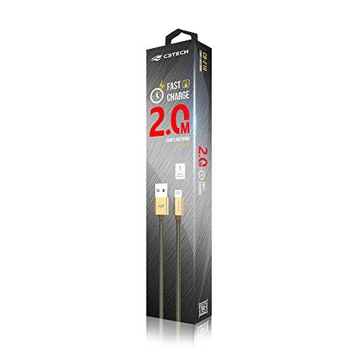 Cabo C3Tech USB-Lightning 2 Metros Dourado - CB-210GD