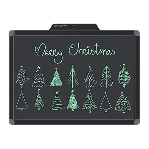 20-Inch LCD Writing Tablet, Electronic Writing Drawing Doodle Board Erasable, E-Write Handwriting Paper Drawing Black