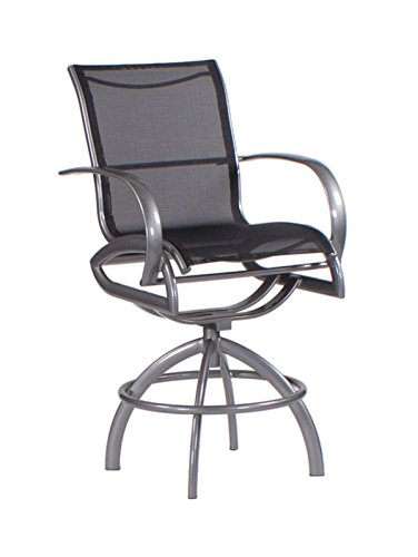 Koverton Modone Swivel Bar Stool, Sparkle Gray Frame, Cameron Bamboo Bamboo Swivel Bar Stool